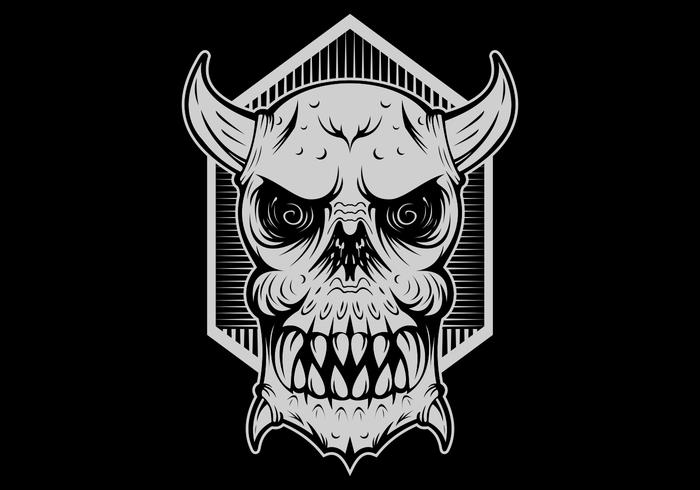 cabeça do mal monstro do crânio