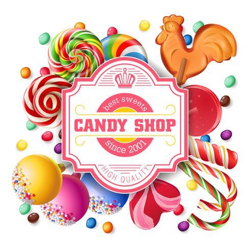 Sfondo di illustrazione vettoriale di dolci