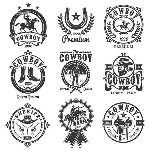 Satz von Vektor-Rodeo-Logos
