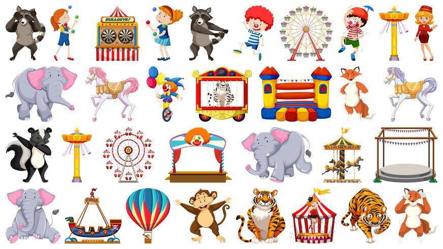 Set of circus character