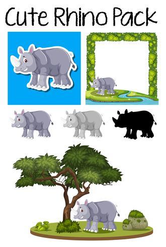 Un paquete de rinoceronte