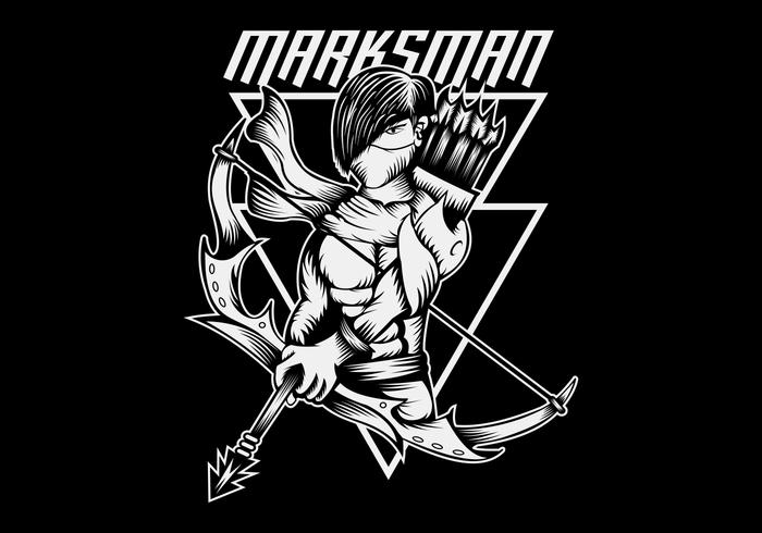 marksman vector illustration