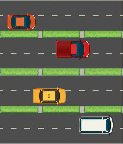 Vista aerea di automobili sulle strade