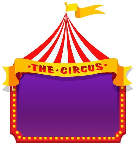 En cirkus på anteckningsmallen