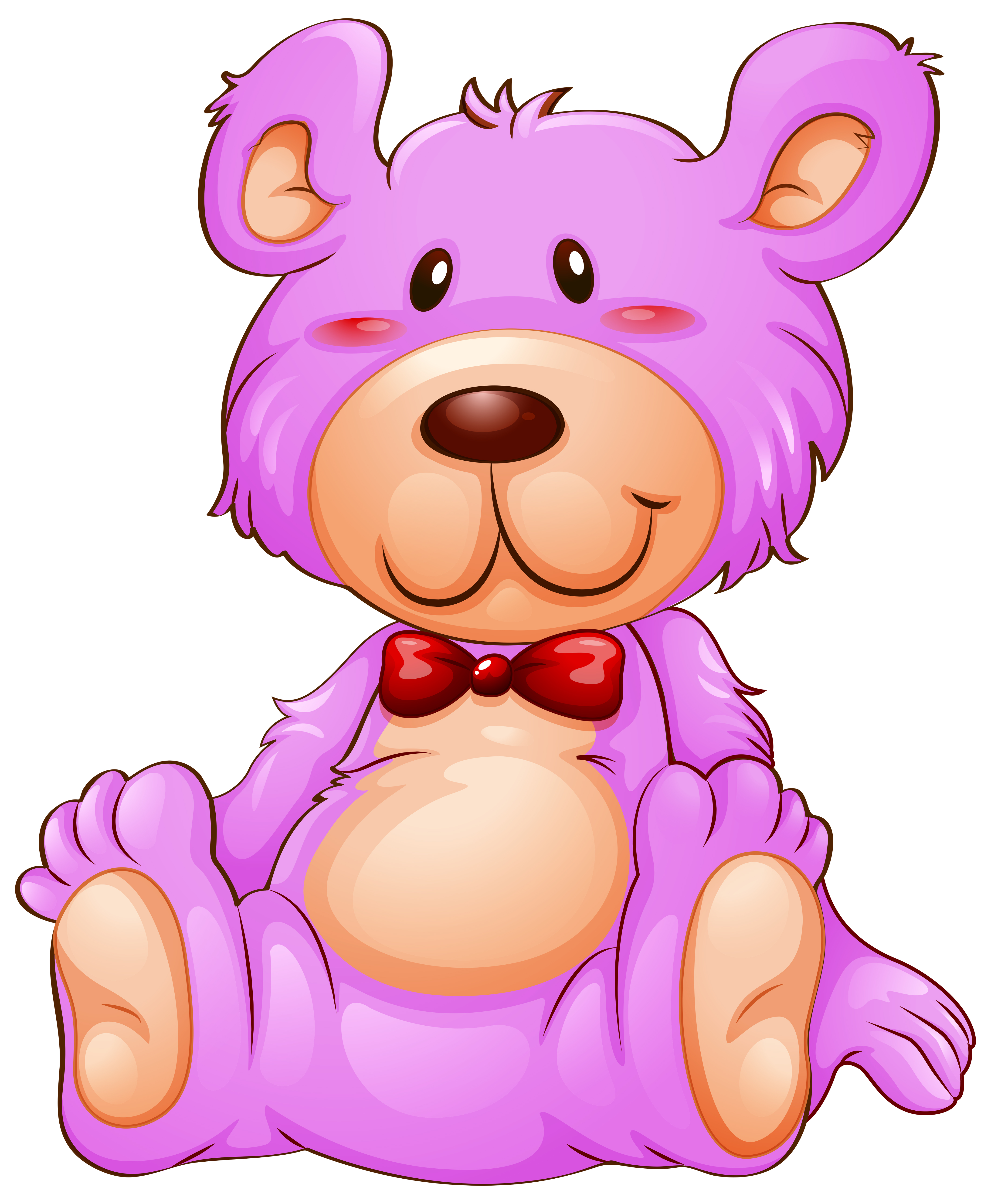 A pink teddy bear on white background - Download Free ...