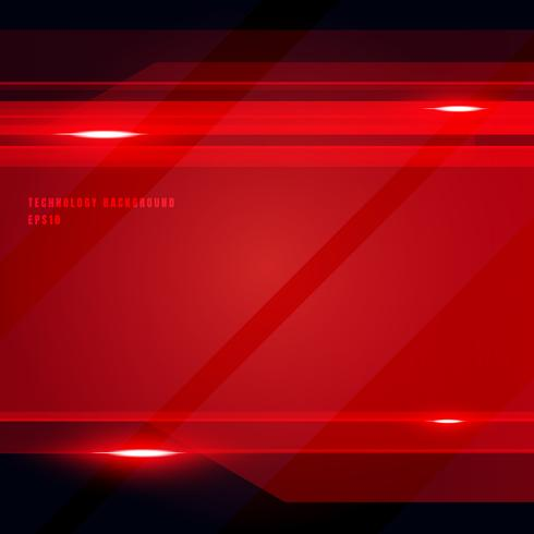 Fundo brilhante geométrico do movimento da cor vermelha da tecnologia abstrata. Modelo de folheto, impressão, anúncio, revista, cartaz, site, revista, folheto, relatório anual.