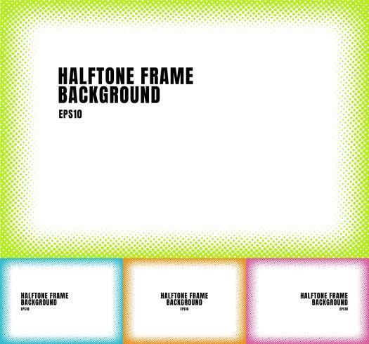 O grupo de pontos de intervalo mínimo verdes, azuis, alaranjados, cor-de-rosa texture o quadro no fundo branco com espaço da cópia. quadro manchado colorido para banner web, folheto, cartaz, folheto, panfleto, apresentação, etc. vetor