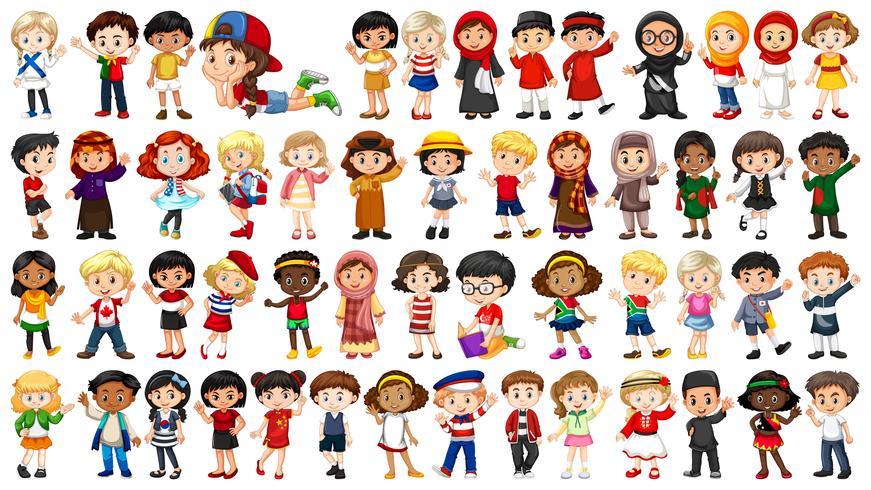 Set van multicultureel karakter