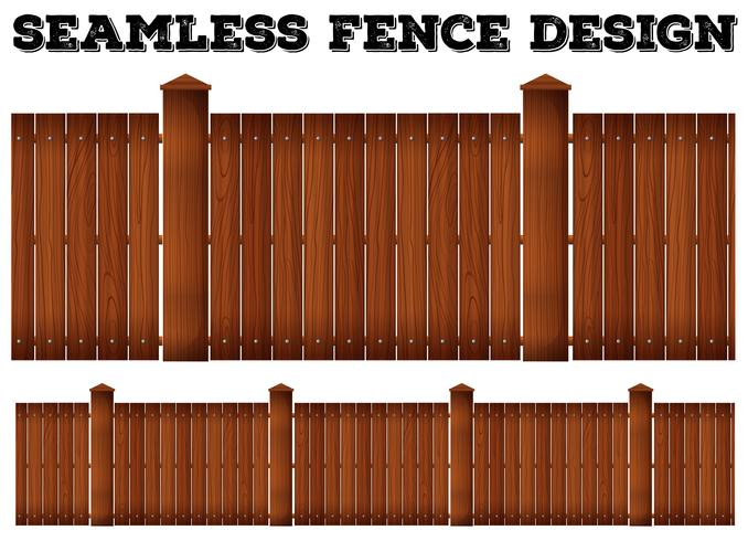 Seamless wooden fence design