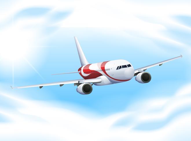 Flygplan som flyger i himlen