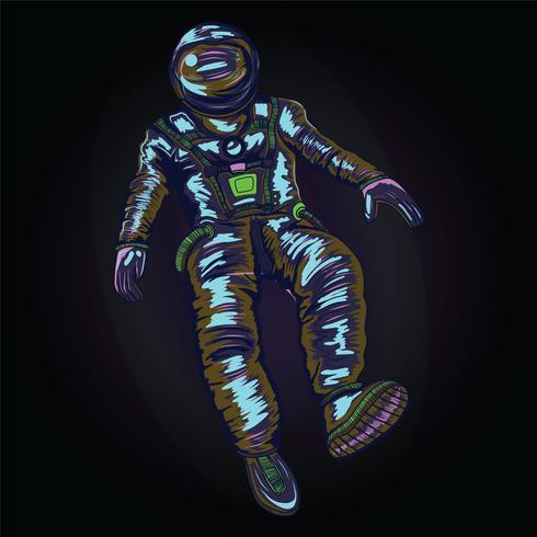 Astronaut i rymddräkt på rymden., VEKTOR