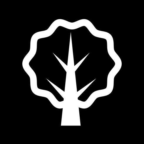ícone de árvore sinal de símbolo