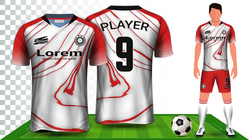 Voetbal shirt, sport shirt of voetbal kit uniforme presentatie mockup sjabloon.