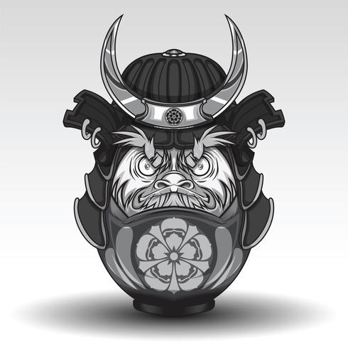 O Dall De Daruma Tem Na Armadura Do Guerreiro Do Samurai