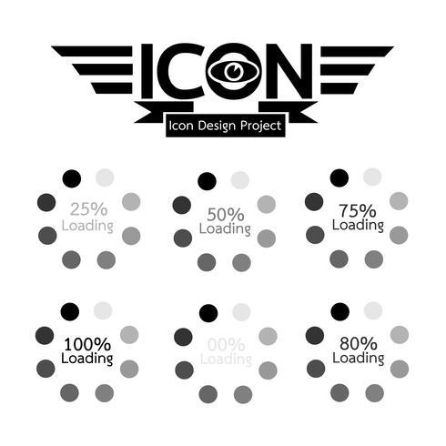chargement icône symbole signe