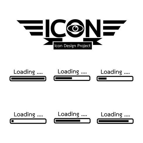 cargando icono simbolo vector