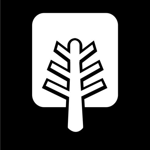 icono de árbol símbolo signo vector