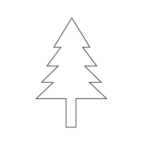 icono de árbol símbolo signo