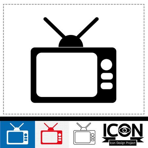 sinal de símbolo de ícone de tv