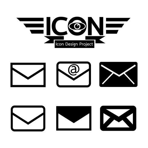 icono de correo símbolo signo