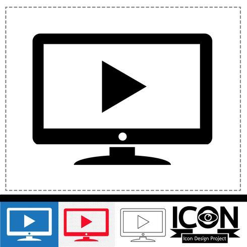 icono de tv símbolo de signo