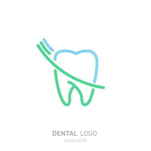 Logotipo da clínica dentária. Cura o ícone de dentes. Escritório de dentista. Vector plana illustraton