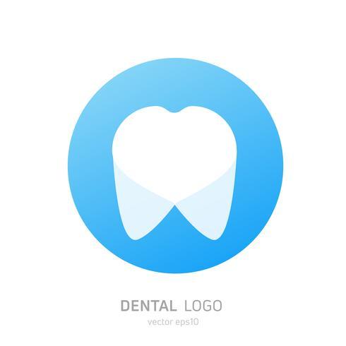 Logo de la clinique dentaire. Guérit l'icône de dents. Bureau de dentiste. Vecteur plat illustraton