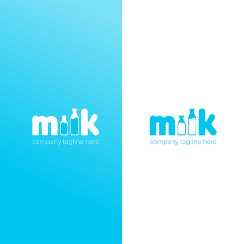 A simple cute logo for the brand of cow milk. Vector flat icon illustration