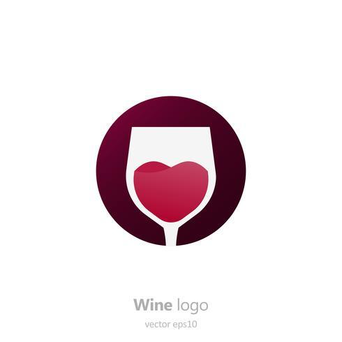 Set van logo ronde met een glas wijn. Capsule met vloeistof in beweging. Vector verloop vlakke afbeelding
