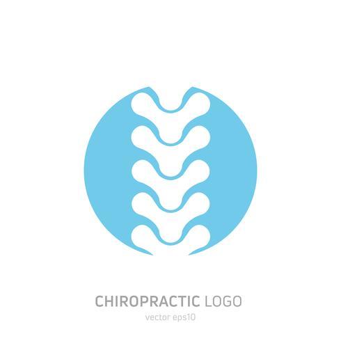 Ställ in manuell terapilogotyp. Kiropraktik och annan alternativ medicin. Läkarkontor, utbildningar. Vektor platt lutningillustration