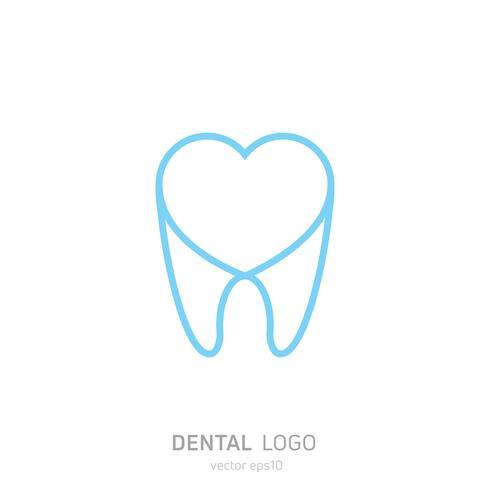 Dental Clinic logotyp. Läker tänder ikonen. Tandläkarkontor. Vector platt illustraton