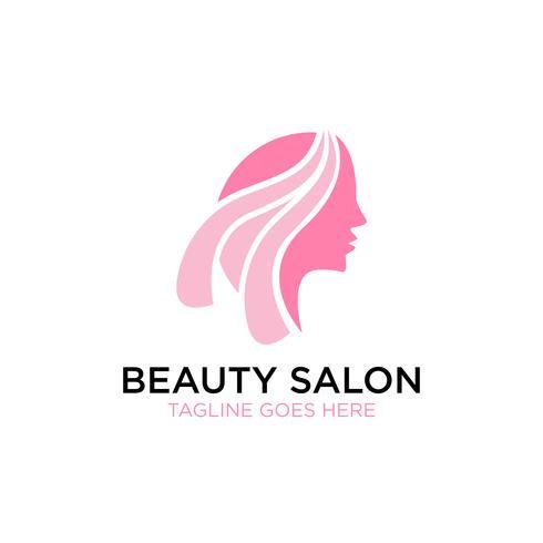 Inspiración del diseño del logotipo del salón de belleza vector