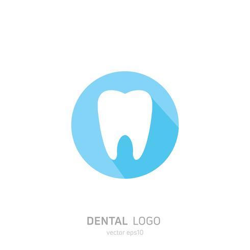 Tandheelkundige kliniek logo. Geneest tanden pictogram. Tandarts kantoor. Vector platte illustraton