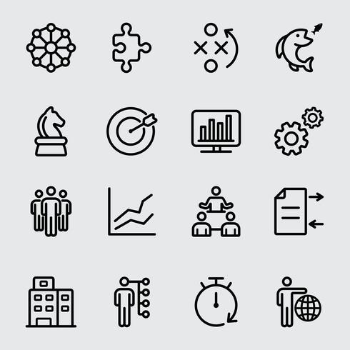 Business and Strategy line icon vector