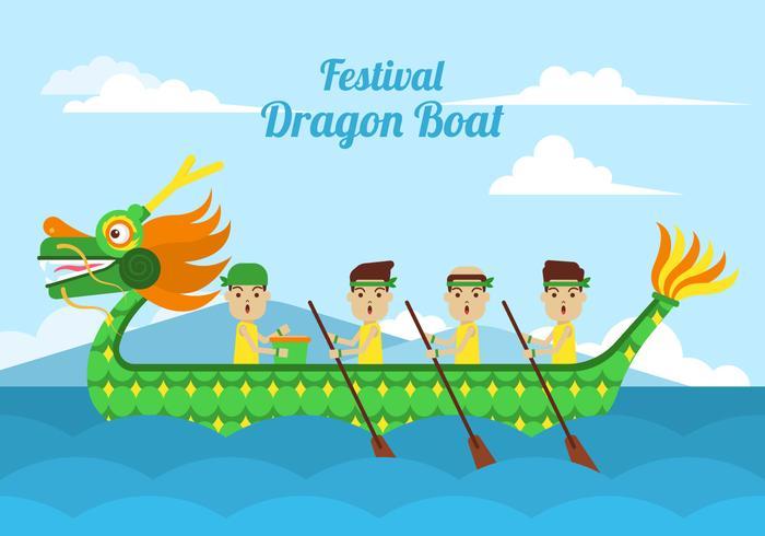 Clipart de barco-dragão