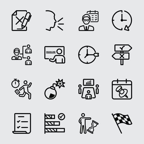 Zakelijke deadline lijn pictogram