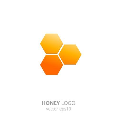Una gota dorada de miel. Dulce logo para la empresa. Vector gradiente ilustración