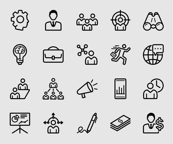 Icono de línea de gestión