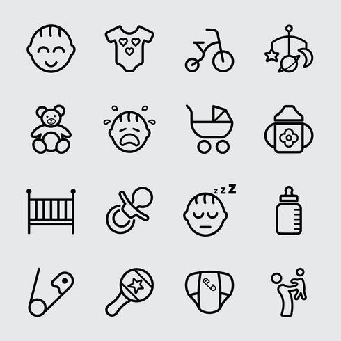 Baby lijn pictogram