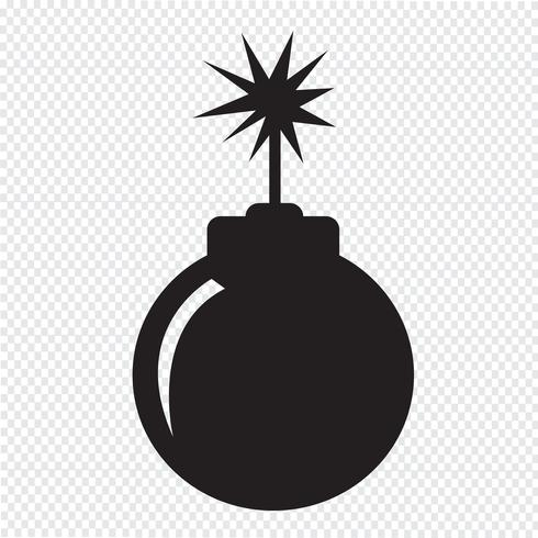 bombe icône symbole signe