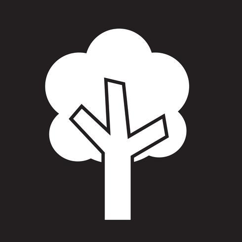 Boom pictogram symbool teken
