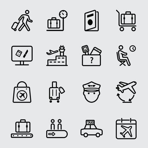 Icono de linea de aeropuerto