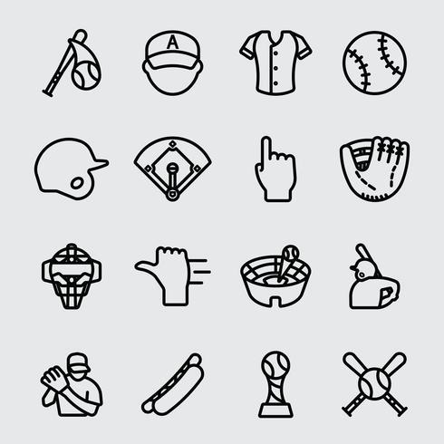Baseball Liniensymbol vektor