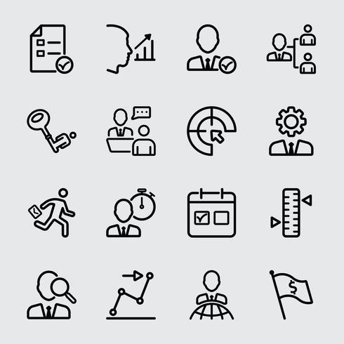 Bedrijfsbeheer en opdrachtlijnpictogram