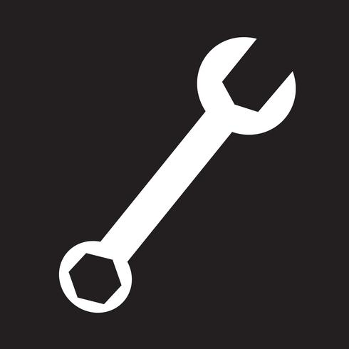 chiave inglese icona simbolo segno