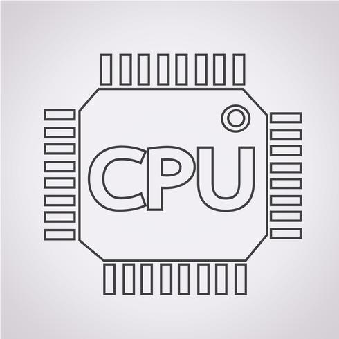Segno simbolo icona CPU