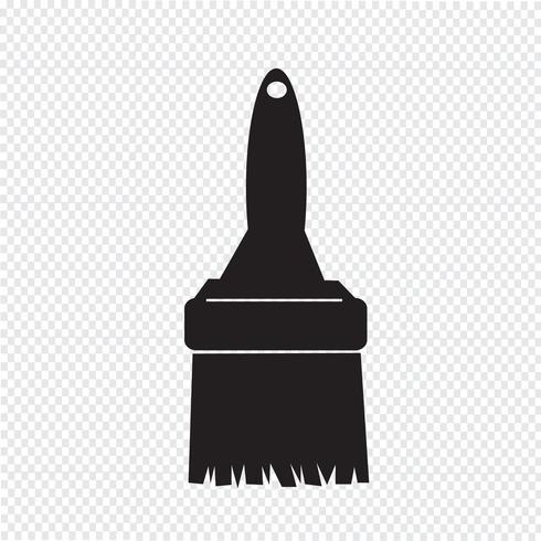 Pinsel Symbol Symbol Zeichen