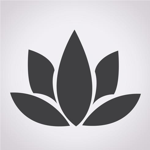 lotus pictogram symbool teken
