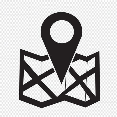 signe symbole icône emplacement vecteur