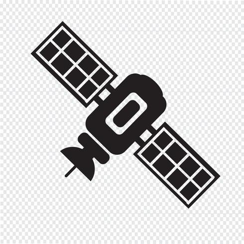 sinal de símbolo de ícone de satélite
